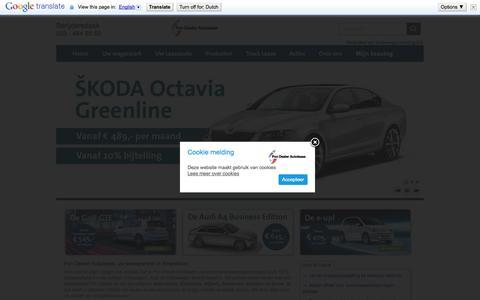 Screenshot of Home Page pondealerautolease.nl - Pon Dealer Autolease Amersfoort - Home » Pon Dealer Autolease - captured Jan. 26, 2015