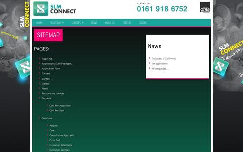 Screenshot of Site Map Page slmconnect.co.uk - Sitemap   SLM Connect - captured Sept. 29, 2014