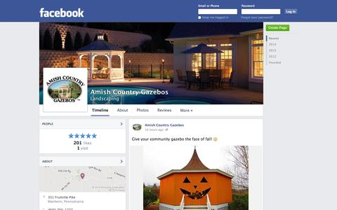 Screenshot of Facebook Page facebook.com - Amish Country Gazebos - Manheim, Pennsylvania - Landscaping   Facebook - captured Oct. 23, 2014
