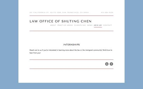 Screenshot of Signup Page chenlegal.com - Join Us! — Law Office of Shuting Chen - captured Oct. 30, 2016