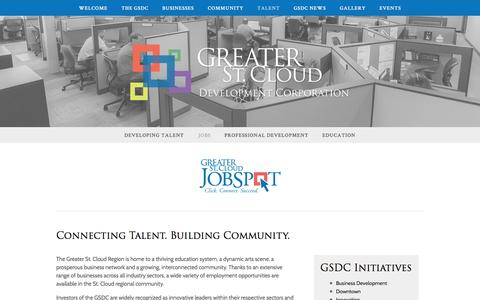 Screenshot of Jobs Page greaterstcloud.com - Jobs — Greater St. Cloud Development Corporation - captured Nov. 15, 2016