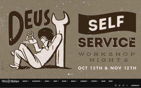 Screenshot of Home Page deuscustoms.com - Homepage | Deus Ex Machina |Deus Ex Machina - captured Oct. 8, 2015