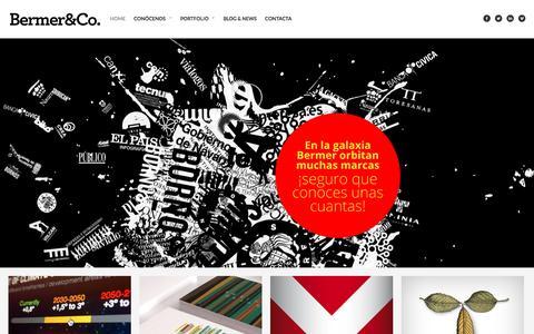 Screenshot of Home Page bermer.es - Bermer&Co. Agencia de comunicación y diseño Bermer&Co. - captured Nov. 22, 2016