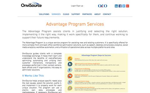 Screenshot of Services Page onvisource.com - Customer-Centric Services & Programs | OnviSource - captured July 22, 2017