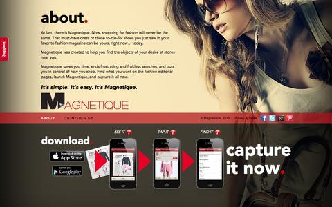 Screenshot of About Page magnetique.com - Magnetique • Our Mission - captured Sept. 29, 2014