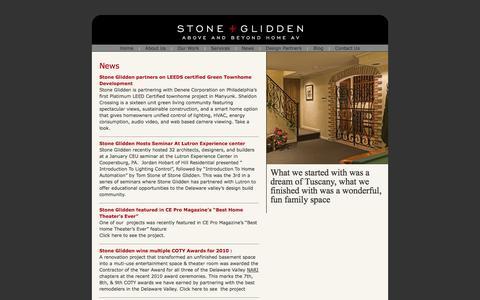 Screenshot of Press Page stoneglidden.com - Stone + Glidden/News - captured Oct. 7, 2014