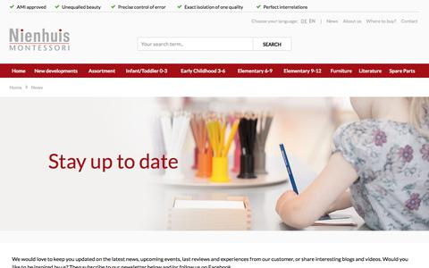 Screenshot of Press Page nienhuis.com - Get inspired - captured Oct. 21, 2017