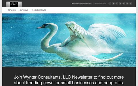 Screenshot of Home Page wynterconsultants.com - Wynter Consultants, LLC | Management Experts - captured Aug. 16, 2015