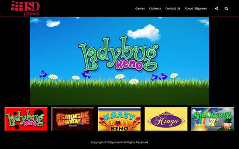 Screenshot of Home Page isdgames.com - ISDgames – Ladybug Keno is coming soon to a casino near you! - captured May 27, 2017