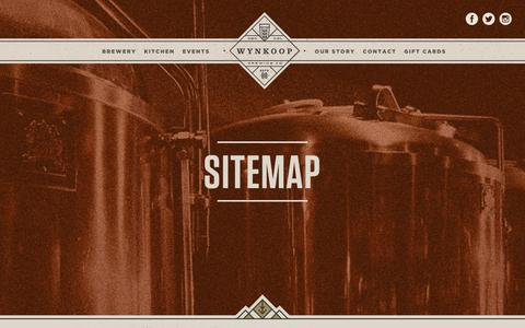 Screenshot of Site Map Page wynkoop.com - Sitemap | Wynkoop Brewing - captured Sept. 22, 2018