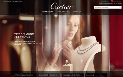 Screenshot of Home Page cartier.co.uk - Official Cartier websites - The renowned French jeweller and fine watchmaker. Bridal, Luxury Accessories, Fragrances & Exceptional Gifts - captured Nov. 16, 2015