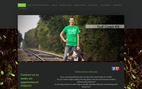 Screenshot of Home Page gcdogtraining.com - Professional Dog Training | Gulf Coast Dog Training - captured Feb. 2, 2016