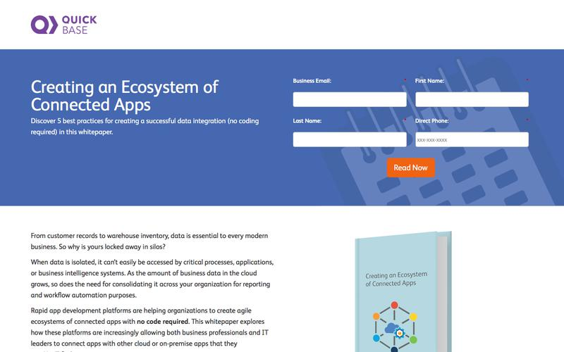 Creating an Ecosystem of Connected Apps eBook   QuickBase