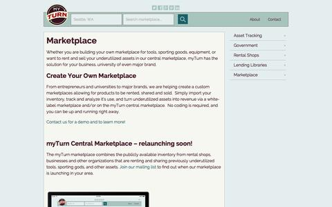 Screenshot of Locations Page myturn.com - Marketplace - captured Oct. 26, 2014