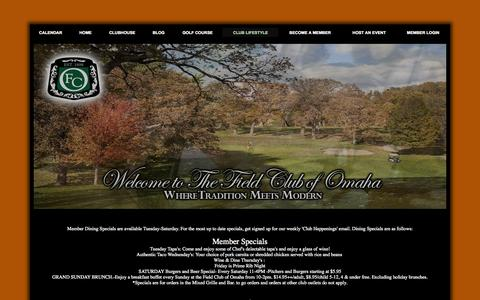 Screenshot of Menu Page fcomaha.com - Menu - Field Club of Omaha - captured Oct. 5, 2014