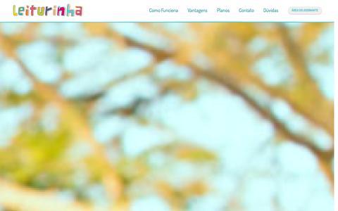 Screenshot of Home Page leiturinha.com.br - Leiturinha | Serviço de assinatura de livros infantis | Clube do livro - captured Sept. 18, 2014