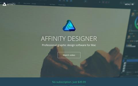 Affinity Designer - Professional graphic design software for Mac