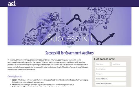 Screenshot of Landing Page acl.com - Download Your Audit Success Kit - captured Sept. 11, 2017