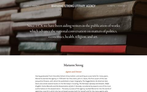 Screenshot of Team Page stronglit.com - Agency — Marianne Strong Literary Agency - captured Nov. 19, 2016