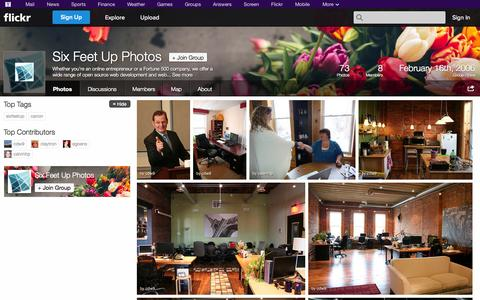 Screenshot of Flickr Page flickr.com - Flickr: The Six Feet Up Photos Pool - captured Oct. 26, 2014
