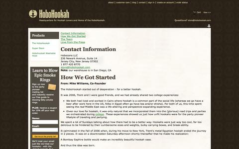 Screenshot of About Page hobohookah.com - About the HoboHookah.com Dream - captured Oct. 22, 2014