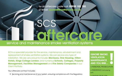 Screenshot of Home Page scsaftercare.co.uk - SCS Aftercare - captured Sept. 29, 2017