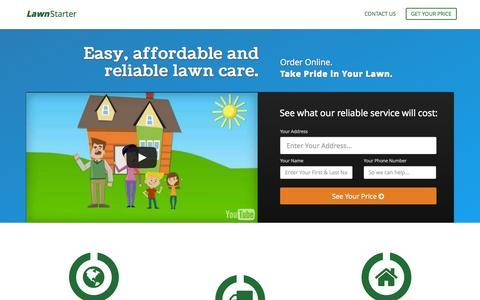 Screenshot of Home Page lawnstarter.com - Welcome | LawnStarter.com - captured Jan. 26, 2015