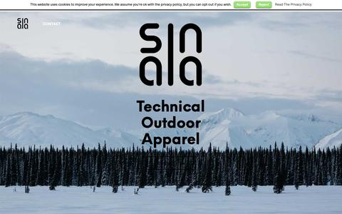 Screenshot of Home Page sinaia.se - Sinaia – Technical Urban Apparel - captured Oct. 20, 2018