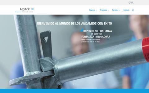 Screenshot of Home Page layher.es - Layher es el sistema de andamios - captured Oct. 4, 2016