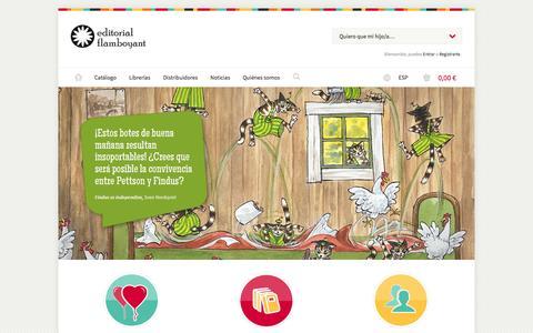 Screenshot of Products Page editorialflamboyant.com - Editorial Flamboyant | Petites joies literàries a nens i pares que aprecien un bon conte. - captured Oct. 27, 2014