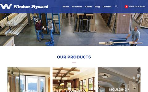 Screenshot of Products Page windsorplywood.com - Products » Windsor Plywood® - captured June 13, 2017