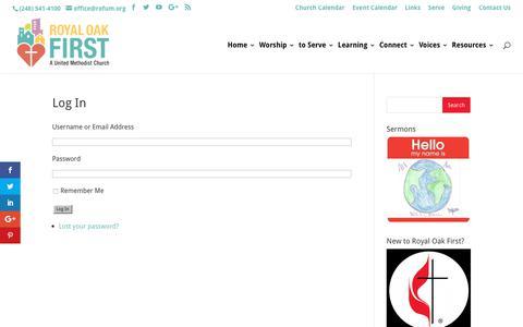 Screenshot of Login Page rofum.org - Log In - Rofum - captured Oct. 10, 2018