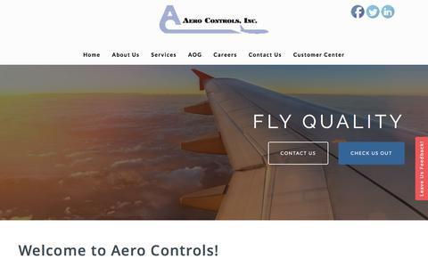 Screenshot of Home Page aerocontrols.com - AERO CONTROLS, INC. - captured Oct. 7, 2017