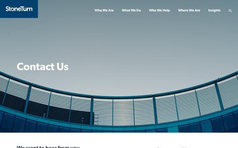 Screenshot of Contact Page stoneturn.com - Contact Us - StoneTurn - captured Nov. 11, 2017