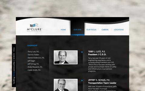 Screenshot of Team Page mecresults.com - Leadership «  mcclure - captured Oct. 27, 2014