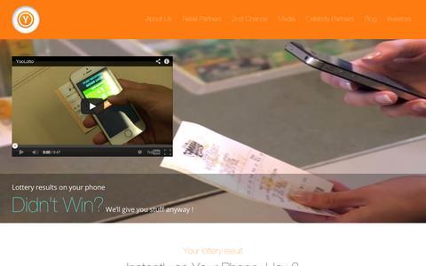 Screenshot of Home Page yoolotto.com - YooLotto - captured Sept. 10, 2014