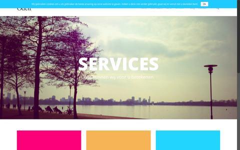 Screenshot of Services Page odett.nl - Website of onderhoud nodig? - captured Feb. 21, 2016