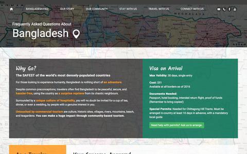 Screenshot of FAQ Page golpata.com - FAQ on Bangladesh Traveling and Backpacking   Golpata Eco-Tourism - captured July 21, 2018
