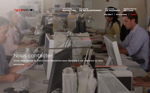 Screenshot of Contact Page highconnexion.com - High Connexion | Contact - captured Nov. 8, 2016