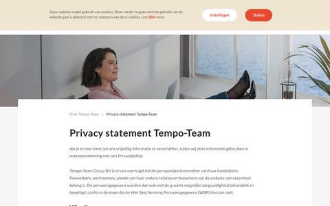 Privacy statement Tempo-Team
