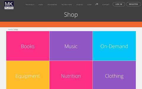 Screenshot of Products Page mkpilates.com - Shop. MK Pilates - captured Dec. 10, 2018