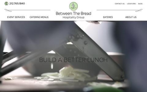 Screenshot of Locations Page betweenthebread.com - EATERIES | Between the Bread - captured Feb. 7, 2016