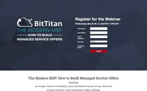 Build Managed Service Offers