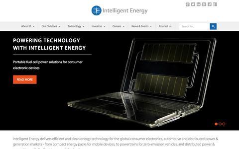 Screenshot of Home Page intelligent-energy.com - Home | Intelligent Energy - captured Dec. 7, 2015