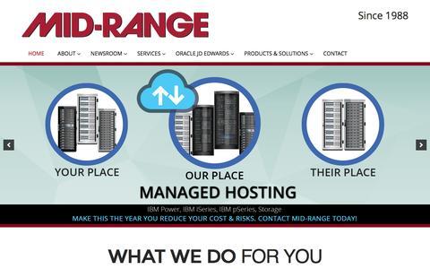 Screenshot of Home Page midrange.ca - Mid-Range | - captured Nov. 28, 2016