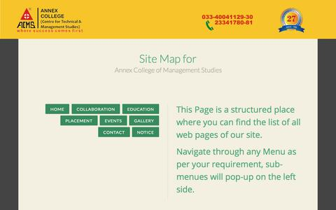 Screenshot of Site Map Page annexcollege.ac.in - Site Map - captured Oct. 8, 2017