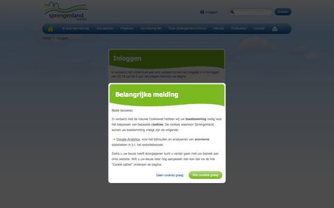 Screenshot of Login Page sprengenland.nl - Inloggen | Sprengenland Wonen - captured Oct. 6, 2014