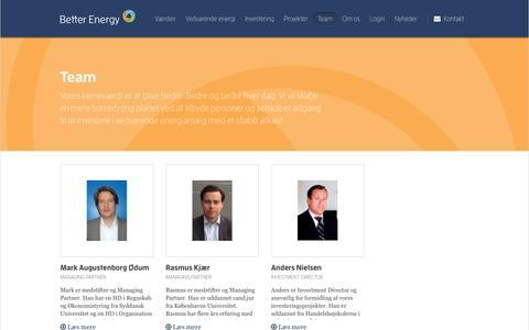 Screenshot of Team Page betterenergy.dk - Team • betterenergy.dk - captured Nov. 22, 2016