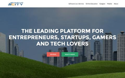 Screenshot of Home Page startup-city.com - Startup City - The Source for Startup Companies - captured Aug. 18, 2016