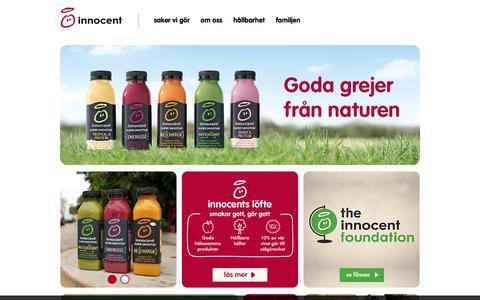 Screenshot of Home Page innocentdrinks.se - Innocent drinks – pure fruit smoothies - captured Jan. 14, 2018